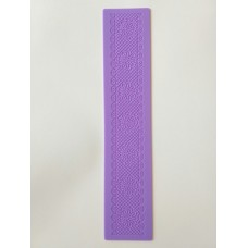 """Силиконовый коврик(матовый)для айсинга""""Цветок"""".Размером 390*80 мм."""
