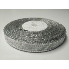 """Лента парча """"Серебро"""", 12 мм"""
