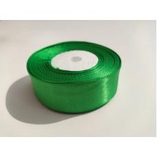 Лента атласная зеленая, 25 мм