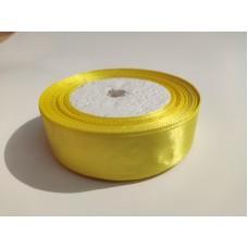 Лента атласная желтая, 25 мм
