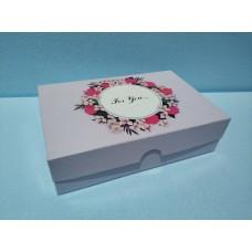 """Коробка для эклеров, зефира """"For you"""" розовая, 225*150*60"""