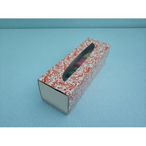 """Коробка для макаронс """"Терракотовая"""", 170*55*50"""