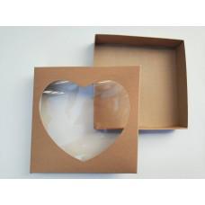 """Коробка для пряников """"Крафт-сердце"""", 200*200*35"""