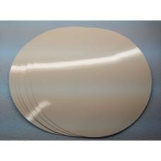 Подложка ламинированная белая, диаметр 110 мм