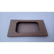 Коробка для плитки шоколада крафт 3, 160*80*15