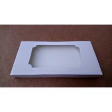 Коробка для плитки шоколада белая 2, 160*80*15