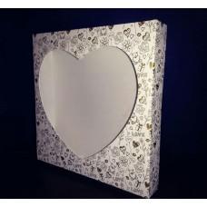 """Коробка для пряников с печатью золото """"Сердце"""", 200*200*35 мм"""