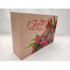 """Коробка """"Вітаю з 8 березня"""" для эклеров, 225*150*60"""