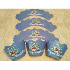 """Тарталетка для капкейков """"Сднём рождения""""(синяя).6 шт.-7 грн."""
