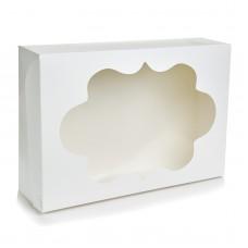 Коробка для 12 капкейков с окошком
