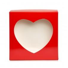 """Коробка для пряников """"Сердце"""" красная, 200*200*35"""