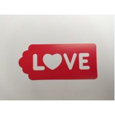 "Бирка ""Love"" красная, 20 шт."