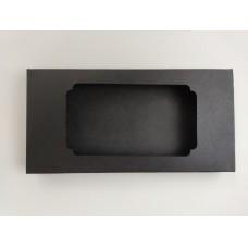 """Коробка для плитки шоколада из дизайнерского картона """"Черная"""", 160*80*15"""