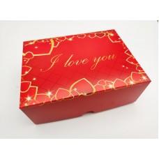 "Коробка ""I love you"" на 6 капкейков, 240*180*90"