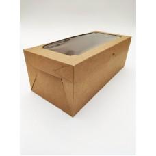 Коробка для маренгового рулета, крафт, 330*150*120