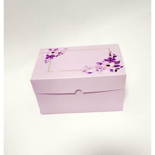 """Коробка для 2 капкейков, маффинов, кексов """"Лиловая"""", 160*110*85"""