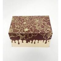"""Коробка для 2 капкейков, маффинов, кексов """"Шоколадные цветы"""", 160*110*85"""
