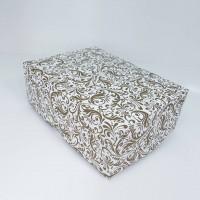 Коробка для 6 капкейков «Золотой узор» без окна, 240*180*90