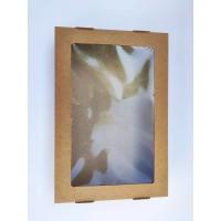 Коробка-крафт с окном, 200*300*50
