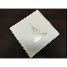 """Коробка """"Ёлка"""" с тиснением золотом, 200*200*50"""