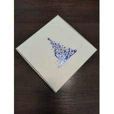 """Коробка """"Ёлка"""" с синим тиснением, 200*200*50"""