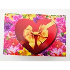"""Коробка для эклеров """"Сердце с бантом"""", 220*150*60"""