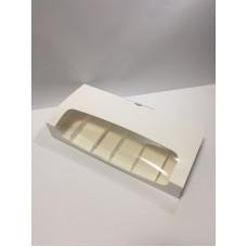 Коробка для эклеров и пирожных Эскимо с окном, 310*144*50