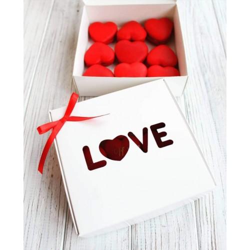 """Коробка """"LOVE"""" для пряников, макаронс, бижутерии"""