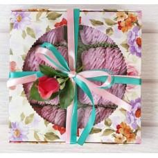 Коробка для макаронс, пряников с окошком, 200*200*50