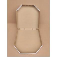 Коробка для пиццы бело-бурая, 300*300*35