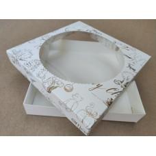 """Коробка """"Merry Christmas"""", печать золотом, 200*200*35"""