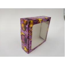 """Коробка """"Праздничная сиреневая"""" с окном, 150*150*50"""