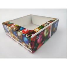 """Коробка """"Новогодние игрушки"""" с окном, 150*150*50"""