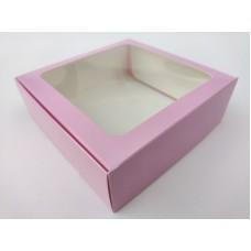 """Коробка """"Розовая"""" с окном, 150*150*50"""