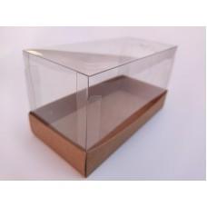 """Коробка """"Аквариум"""" крафт для кекса, 170*80*90"""