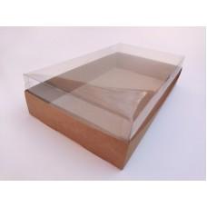 """Коробка """"Аквариум"""" крафт для штоллена, 300*170*70"""