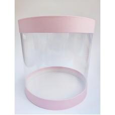"""Коробка """"Тубус"""" светло-розовая для муссовых тортов, 250*250"""