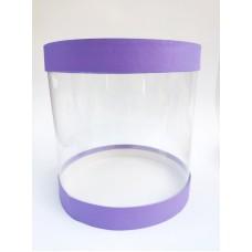 """Коробка """"Тубус"""" фиолетовая для муссовых тортов, 250*250"""