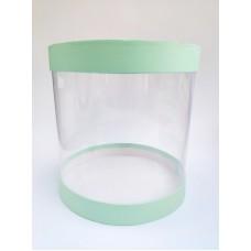 """Коробка """"Тубус"""", цвет - мята, для муссовых тортов, 250*250"""