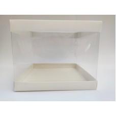 Коробка для торта с прозрачными стенками, 246*246*200