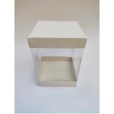 Коробка для торта с прозрачными стенками, 146*146*200