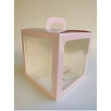 """Коробка """"Домик"""" цвета пудры с защитным лаком, 210*210*210"""