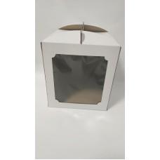 Коробка для торта с квадратным окном, 280*280*300