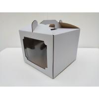 Коробка для торта с окном, 250*250*200