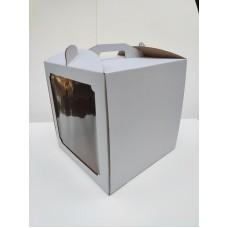 Коробка для торта с квадратным окном, 300*300*300