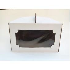 Коробка для торта с окном, 250*250*150