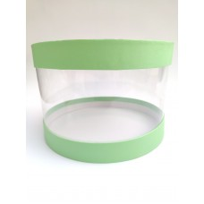 """Коробка """"Тубус"""" светло-зеленая для муссовых тортов, 250*165"""