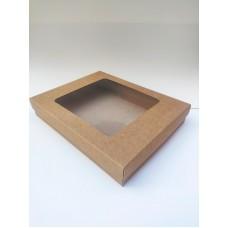 Коробка для полотенец, белья, одежды (с окном), 355*280*60