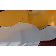 Подложка золото/серебро для тортов круглая, 200 мм