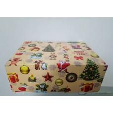 "Коробка на 6 капкейков ""Новогодняя"" без окна, 180*240*90"